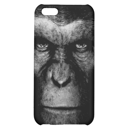 Monochrome  Ape Face Cover For iPhone 5C