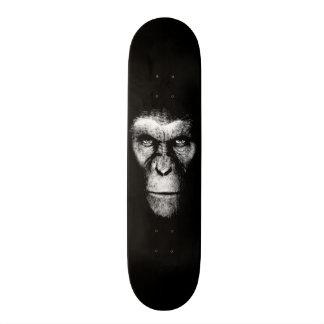 Monochrome  Ape Face Custom Skate Board