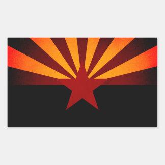 Monochrome Arizona Flag Stickers