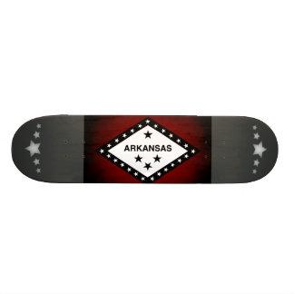 Monochrome Arkansas Flag Custom Skateboard