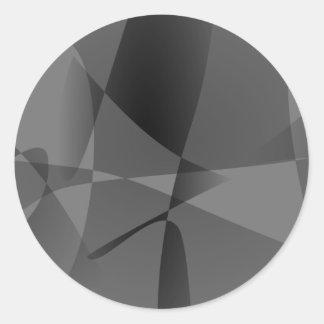 Monochrome Art Round Sticker