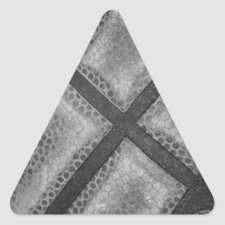 Monochrome Basketball Custom Color Triangle Sticker
