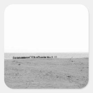 Monochrome Beach Square Sticker