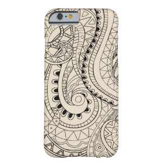monochrome beige abstract pattern barely there iPhone 6 case