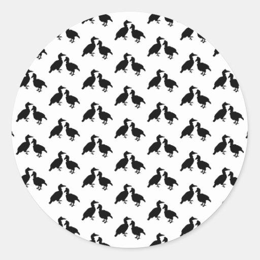 Monochrome Bird Pattern. Stickers