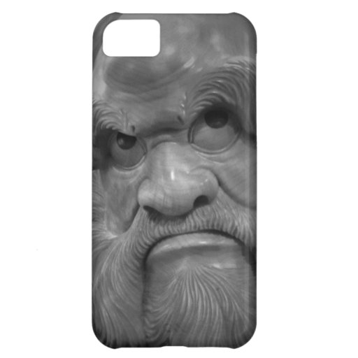 Monochrome Bodhidharma iPhone 5 Case