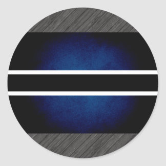 Monochrome Botswana Flag Round Stickers