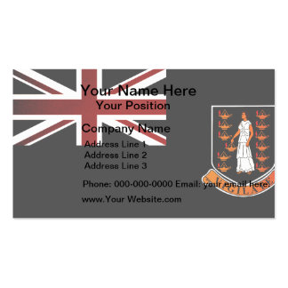 Monochrome British Virgin Islands Flag Business Card