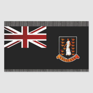 Monochrome British Virgin Islands Flag Rectangle Stickers