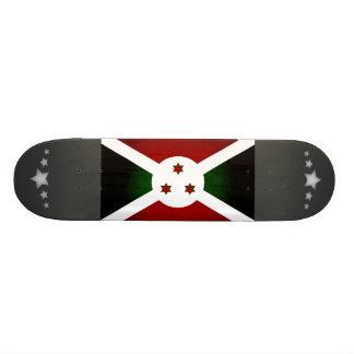 Monochrome Burundi Flag Custom Skate Board