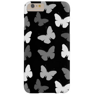 Monochrome Butterflies Pattern Barely There iPhone 6 Plus Case