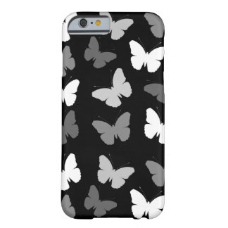 Monochrome Butterflies Pattern Barely There iPhone 6 Case