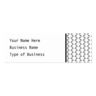 Monochrome Butterfly Pattern. Business Cards