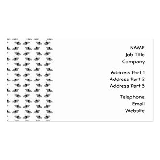Monochrome Butterfly Pattern. Business Card Templates