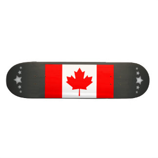 Monochrome Canada Flag Custom Skate Board