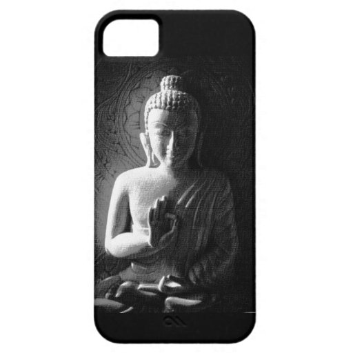 Monochrome Carved Buddha iPhone 5 Cover