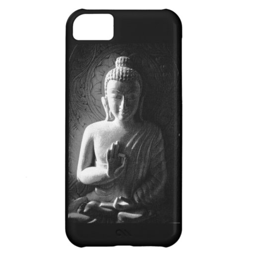 Monochrome Carved Buddha Cover For iPhone 5C
