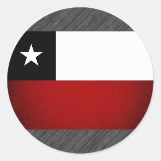 Monochrome Chile Flag Sticker