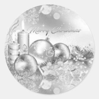 Monochrome Christmas Sticker
