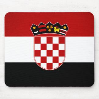 Monochrome Croatia Flag Mouse Pad