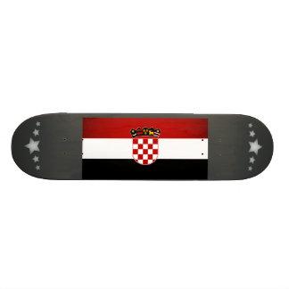 Monochrome Croatia Flag Skate Board Deck