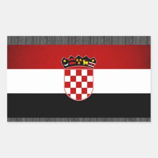 Monochrome Croatia Flag Rectangle Sticker