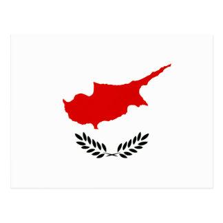 Monochrome Cyprus Flag Postcard