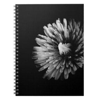 Monochrome Dandelion Notebook