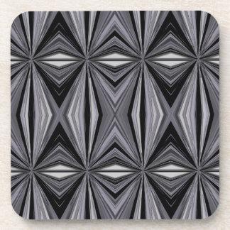 Monochrome Diamond Design Coaster