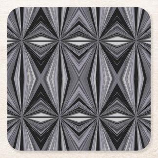 Monochrome Diamond Design Square Paper Coaster