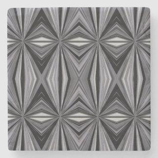 Monochrome Diamond Design Stone Coaster