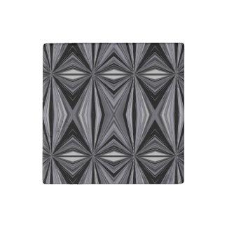 Monochrome Diamond Design Stone Magnet