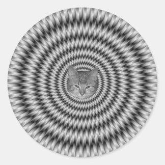 Monochrome Engineering Cat Round Sticker