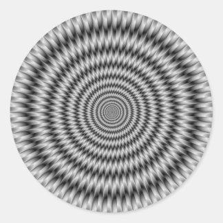 Monochrome Engineering Round Sticker