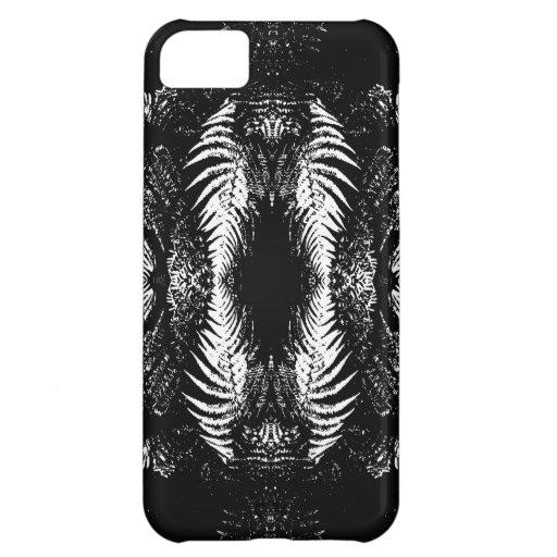 Monochrome Fern Pattern. iPhone 5C Covers