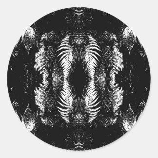 Monochrome Fern Pattern. Stickers