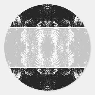 Monochrome Fern Pattern. Sticker
