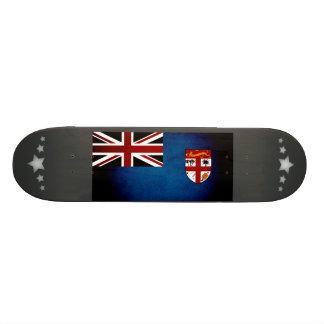 Monochrome Fiji Flag Custom Skate Board