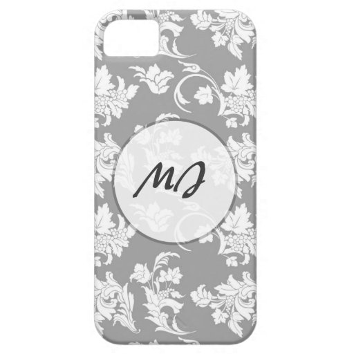 Monochrome Floral Pattern iPhone 5/5S Cases