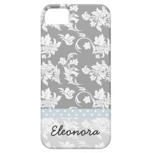 Monochrome Floral Pattern iPhone 5 Covers