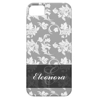 Monochrome Floral Pattern iPhone 5 Cover