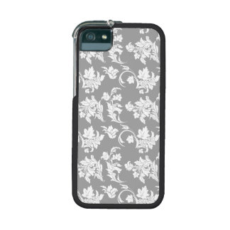 Monochrome Floral Pattern Cover For iPhone 5