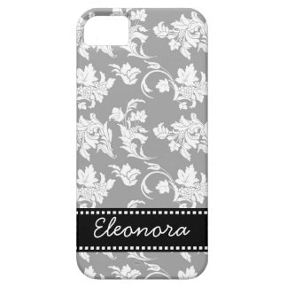 Monochrome Floral Pattern iPhone 5 Cases