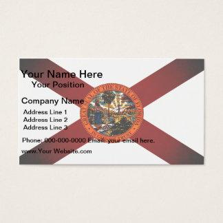Monochrome Florida Flag Business Card
