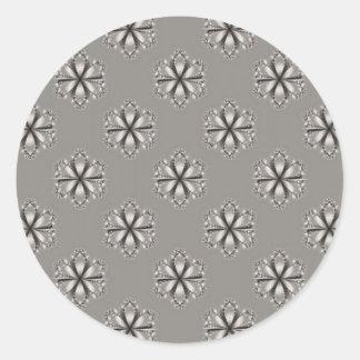 Monochrome Flowers Sticker