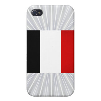 Monochrome France Flag Covers For iPhone 4