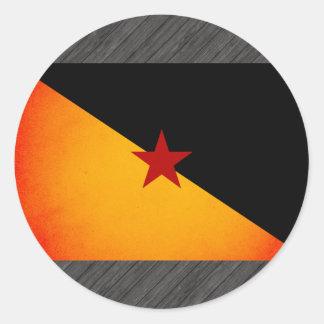Monochrome French Guiana Flag Round Stickers