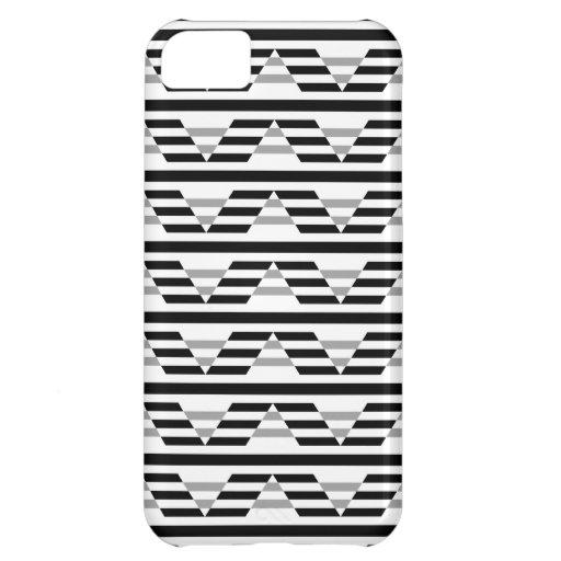 Monochrome Geometric Pattern. Case For iPhone 5C