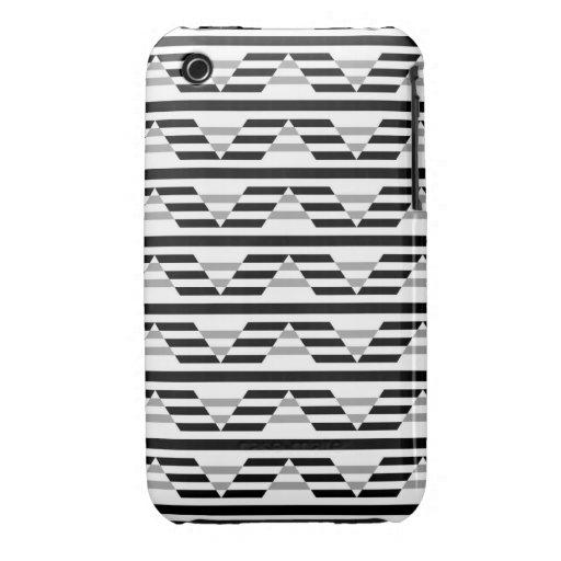 Monochrome Geometric Pattern. iPhone 3 Case-Mate Case