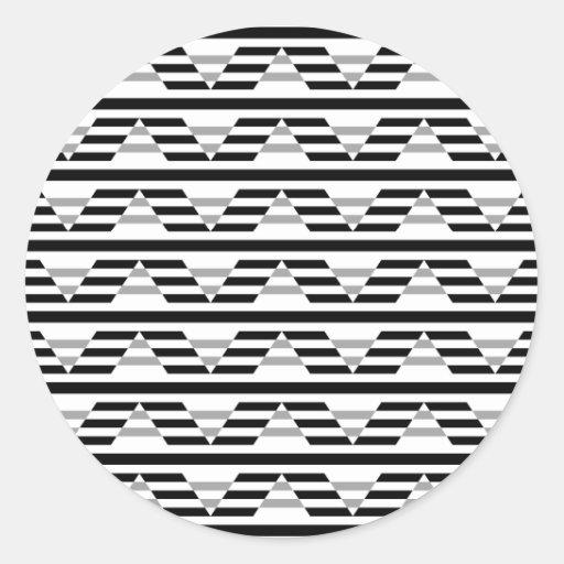 Monochrome Geometric Pattern. Stickers